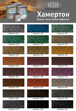 Краска молотковая серая MIXON ХАМЕРТОН 101 0,75л, фото 2