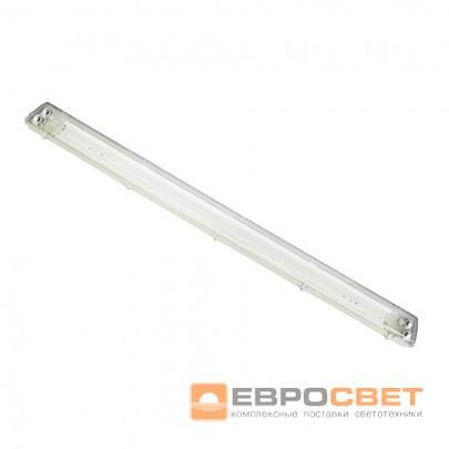 Светильник промышленный ЕВРОСВЕТ 2*1200мм под лампу Т8 LED-SH-45 с пластиной IP65 LENS