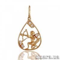 Золотая подвеска знак зодиака Стрелец 1752