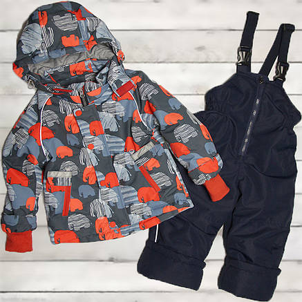 Термо костюм демисезонный для мальчика от 9 мес до 3-х лет красный, фото 2