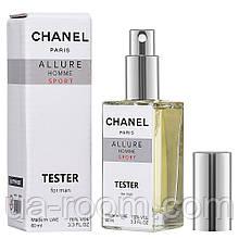 Тестер DUTYFREE мужской Chanel Allure Homme Sport, 60 мл.