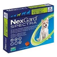 Нексгард Спектра (NexGard Spectra) 7,5-15 кг таблетки от блох, клещей и глистов для собак 1 табл