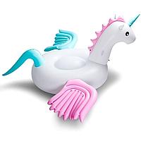 Надувной матрас Modarina Единорог с разноцветными крыльями 275 см Белый PF3317, фото 1