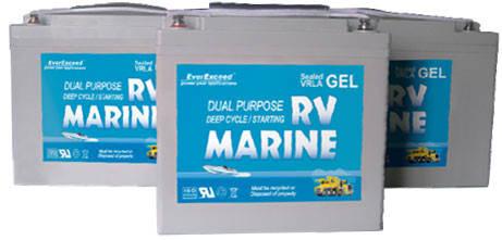 Гелевые аккумуляторы EverExceed серии MARINE GEL Range