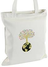 Белая женская сумка Traum 7011-66 с принтом дерева, белая