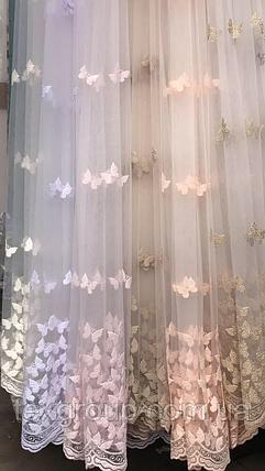 Тюль фатин бабочки , фото 2