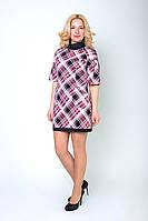 Женское платье с воротничком модного принта