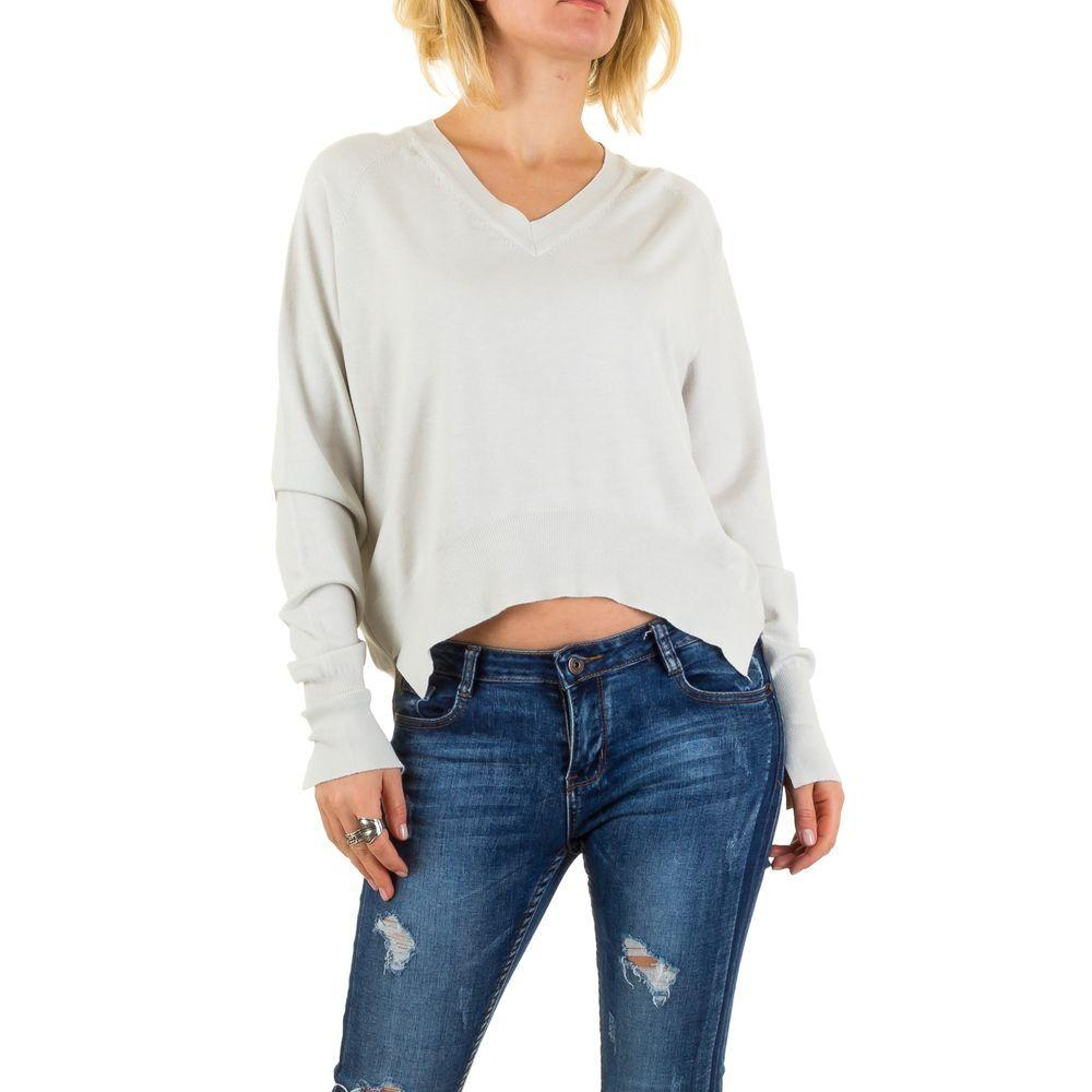 Женский пуловер с удлиненной спинкой Jcl Paris (Франция), Серый