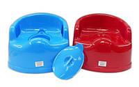 Горшок детский пластиковый с крышкой, фото 1