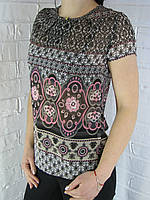 "Блуза жіноча 50159/3 ""Marble"" чорна"