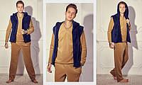 Мужская стильная пижама тройка