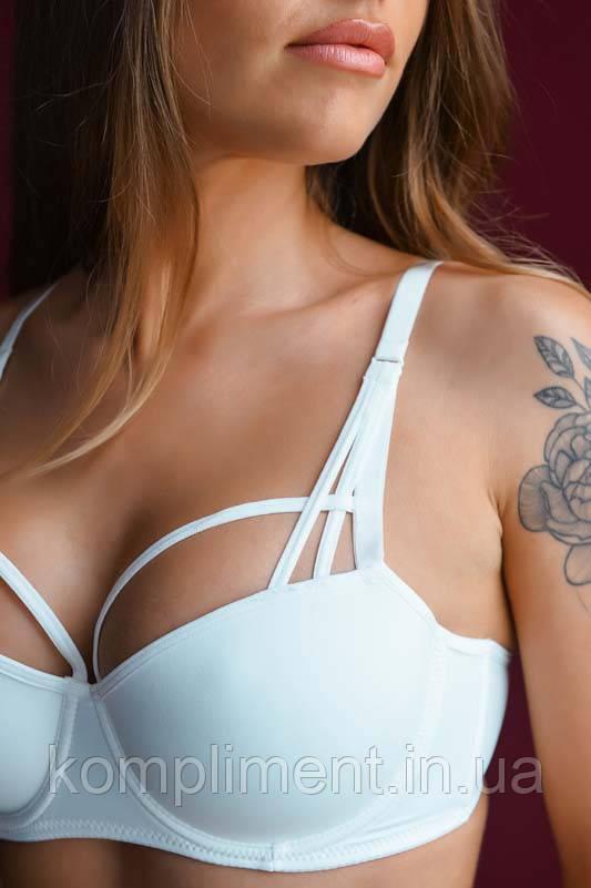 Комплект женского нижнего белья с пуш ап эфектом Lora iris 6478 молочный