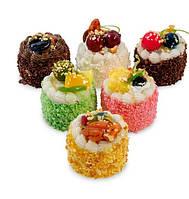 Набор из 6 декоративных десертов, магнитов Восторг QS-21