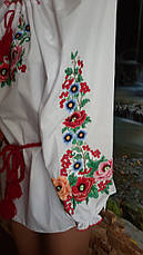 Красивая женская вышиванка с цветами есть большие до 62 размеры, фото 3