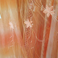 Тюль, гардина, органза - персиковая радуга