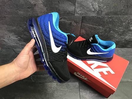 Мужские кроссовки в стиле Nike Air Max 2017 Синие, фото 2