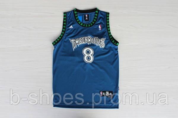 Мужская баскетбольная майка Minnesota Timberwolves Retro (Latrell Sprewell) Blue