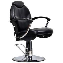 Мужское парикмахерское barber кресло Montreal черное