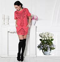 Платье-туника из креп-коттона с перфорацией G7196