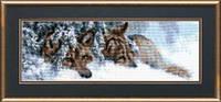 Набор для вышивки крестом «Волки под елкой»