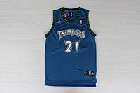 Мужская баскетбольная майка Minnesota Timberwolves Retro (Kevin Garnett) Blue, фото 1