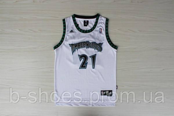 new product 32462 2debe Мужская баскетбольная майка Minnesota Timberwolves Retro (Kevin Garnett)  White