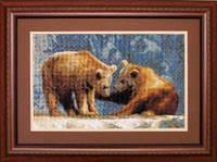 Набор для вышивки крестом «Медведики»