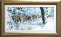 Набор для вышивки крестом «Волки»