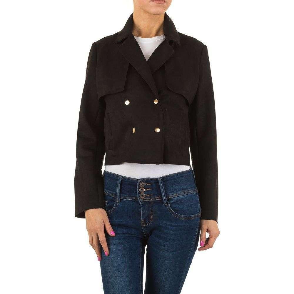 Куртка женская двубортная в стиле тренча (Европа), цвет Черный