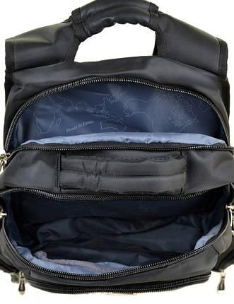 Рюкзак міський нейлон Power In Eavas чорний 20 - 30 л, фото 2
