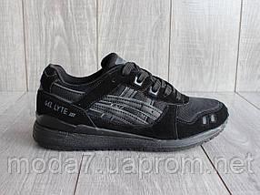 Кроссовки мужские черные Asics Gel Lute III сетка реплика, фото 2