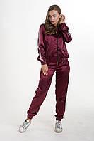 Спортивный женский  костюм тройка из стрейч атласа, фото 1