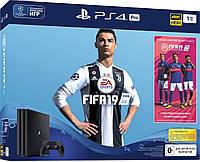 Sony PlayStation 4 Pro 1TB Jet Black (CUH-7216B) + FIFA 19