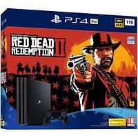 Sony PlayStation 4 Pro 1TB Jet Black (CUH-7216B) + Red Dead Redemption II