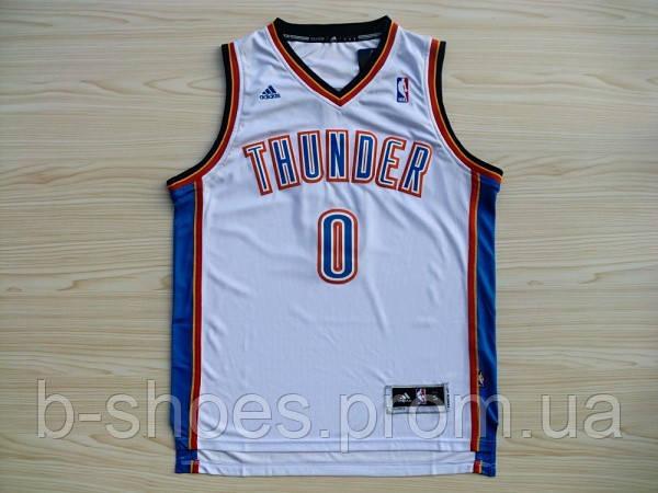 Мужская баскетбольная майка Oklahoma City Thunder (Russell Westbrook) White