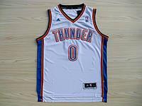 Мужская баскетбольная майка Oklahoma City Thunder (Russell Westbrook) White, фото 1