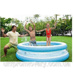 Детский надувной бассейн INTEX 57489 круглый, 203-51см Надувное дно