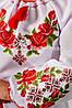 Женская вышиванка с розами и орнаментом Зоряна, фото 4