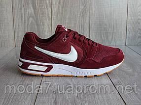 Кроссовки мужские бордовые Nike сетка реплика, фото 2