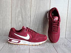 Кроссовки мужские бордовые Nike сетка реплика, фото 3