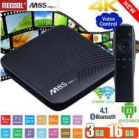 Оригинальная Смарт приставка Месооl М8Ѕ Рrо L 3/16Gb Android Smart TV Box с голосовым управлением, фото 1