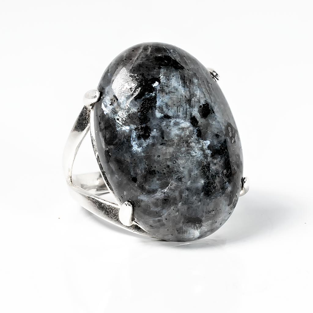 Купить Обсидиан слезы Апачей, 25*18 мм., серебро 925, кольцо ...