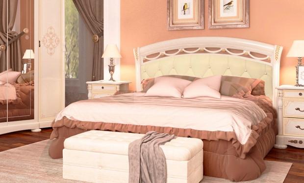 Кровать с мягкой спинкой и каркасом ROSELLA RS-35-RB