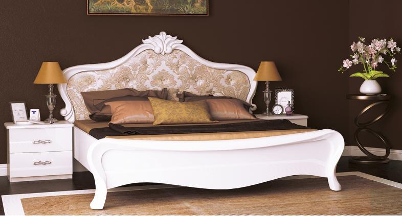 Кровать с мягкой спинкой PROVANCE PV-37-WB