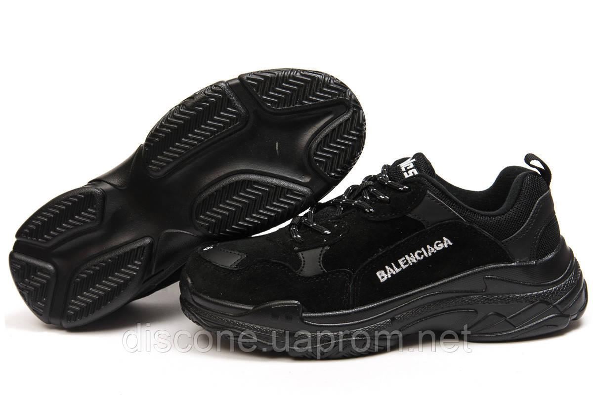 Кроссовки женские ► Balenciaga Triple S,  черные (Код: 14911) ► [  38 39  ] ✅Скидка 37%