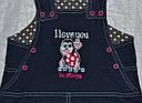 Сарафан трикотажный Jeans Божья Коровка розов (Nicol, Польша), фото 3