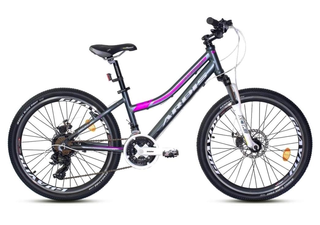 """Подростковый велосипед ARDIS ALPINA 24"""" Серый/Фиолетовый"""