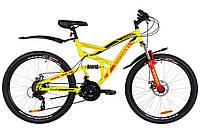 """Горный велосипед (двухподвес) DISCOVERY CANYON AM2 DD-26"""" (желтый)"""