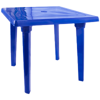 Стол квадратный темно-синий Алеана