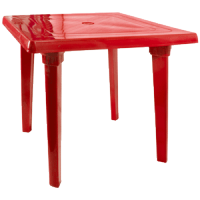Стол квадратный красный Алеана